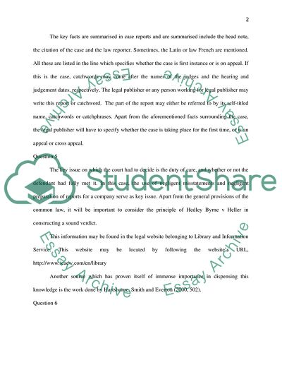 Example Thesis Statements For Essays Tort  Negligence Assessment English Learning Essay also English Essay Com Tort  Negligence Assessment Essay Example  Topics And Well Written  Classification Essay Thesis Statement