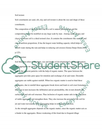 The Relationship Between Soil Properties and Soil Erodibility essay example