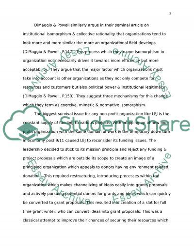 Environments of organization essay example