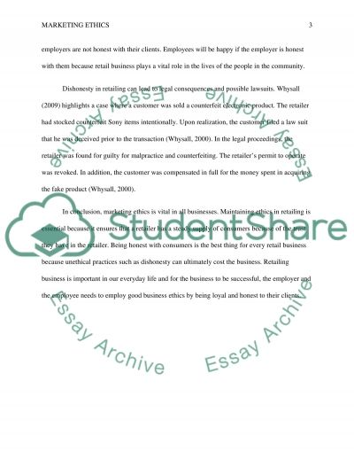 Ethics essay example