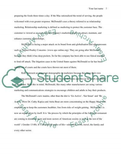 McDonalds Essay essay example