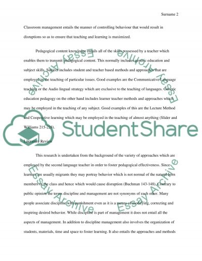 ESL Classroom Mgmt Strategies