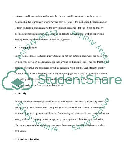 Account for plagiarism in universities in English speaking countries