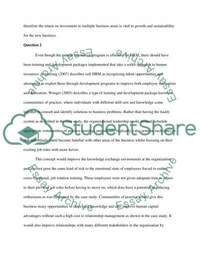 HRM Portfolio: Case Study Review Questions