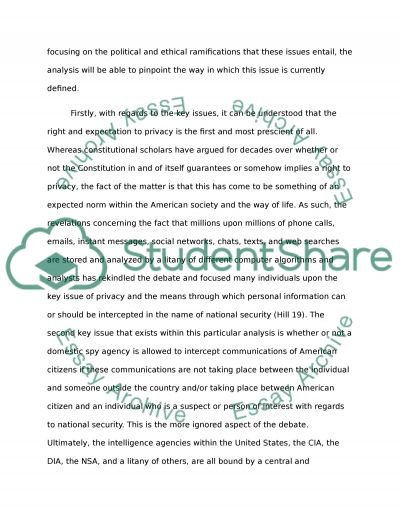 Security of our nation Essay example