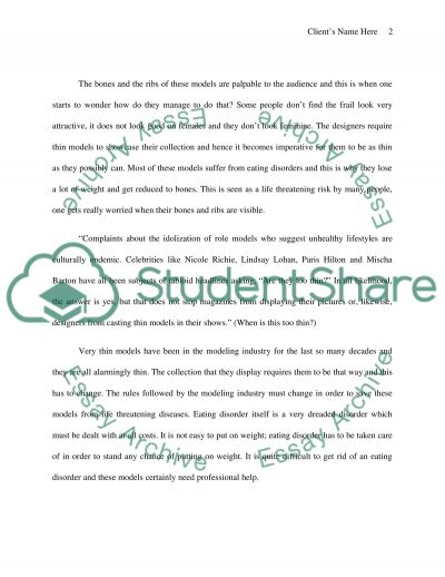How thin is too thin essay example