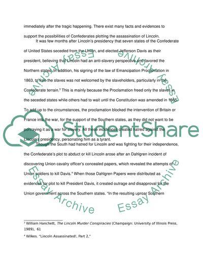 abraham lincoln essay pdf
