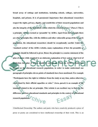 Educational Standards and Principles