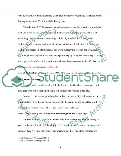 Audacity. The Role Of The Technology In The Learning Process essay example