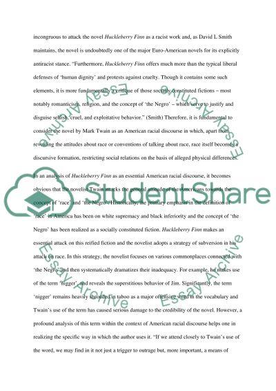 The Adventures of Huckleberry Finn essay example