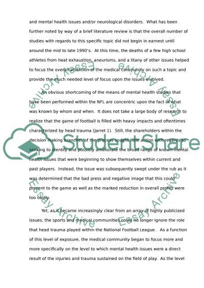Head Trauma essay example