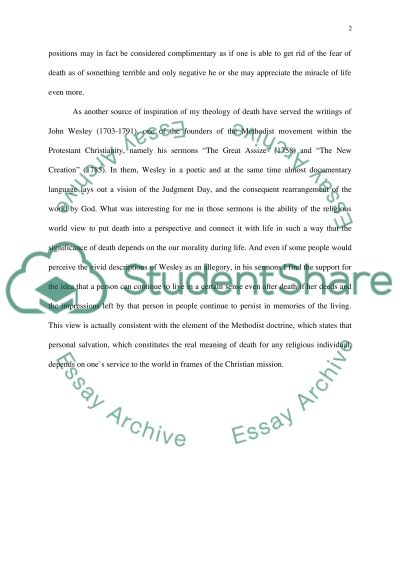 Theology of Death essay example