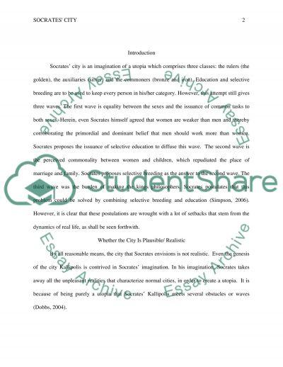 Socrates City essay example