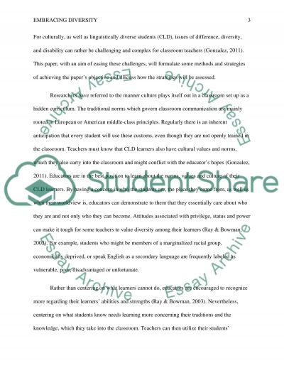 embracing diversity essay example topics and well written essays  embracing diversity essay example