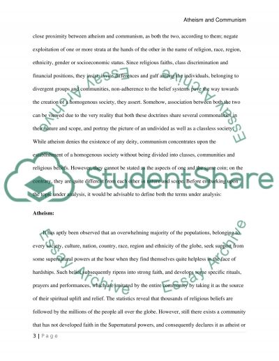 Atheism and Communism essay example