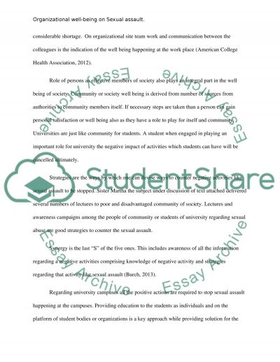 sexual assault essay example of