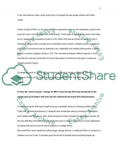 IPod Marketing essay example