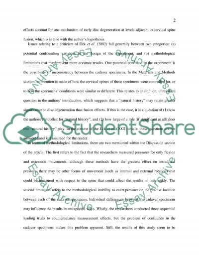 Review Article essay example