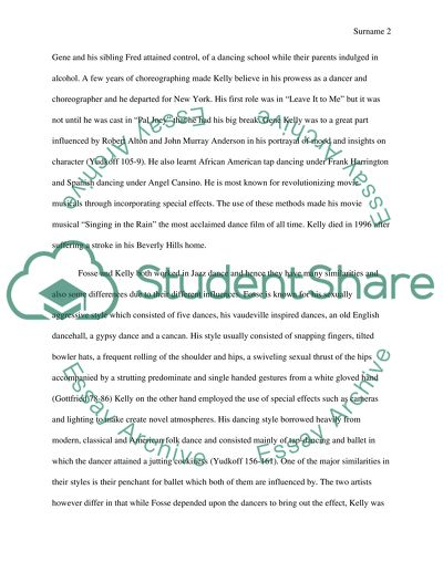 dance essay introduction