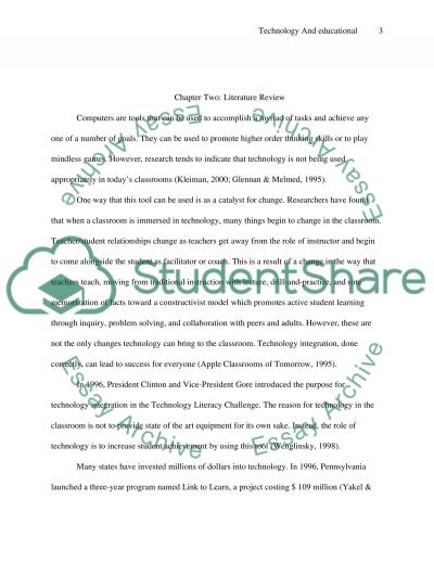 Technology and Educational Instruction essay example