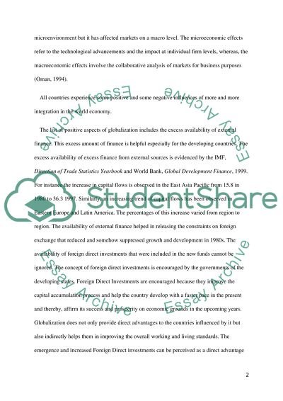 Analysis And Synthesis Essay The Pros And Cons Of Globalization Science And Literature Essay also High School Narrative Essay Examples The Pros And Cons Of Globalization Essay Example  Topics And Well  Example Of Thesis Statement In An Essay