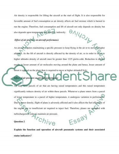 Aircraft System Principles and Applications essay example