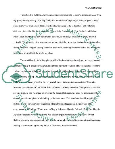High School Application Essay