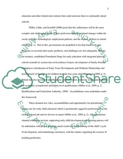 Childrens early learning essay