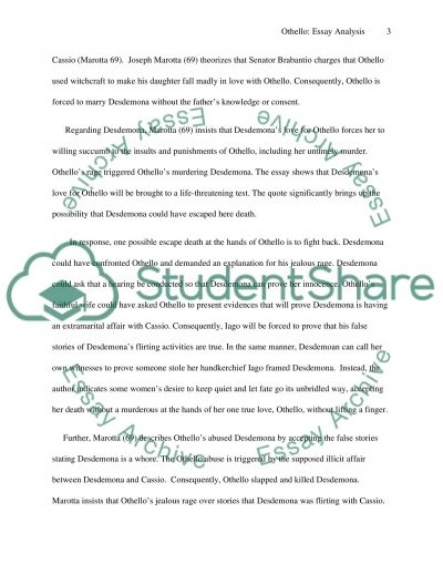 othello critical essay questions Othello study guide contains a biography of william shakespeare, literature  essays  major themes, characters, and a full summary and analysis.