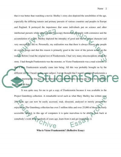 Frankenstein essay example