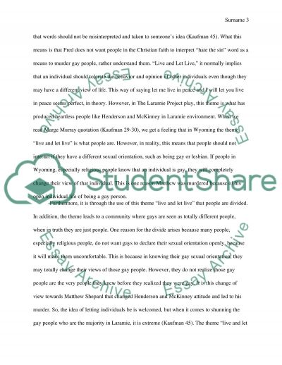 essay of the laramie project example topics and well written text