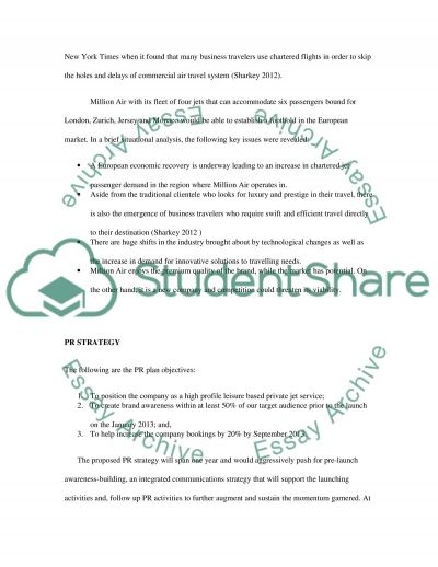 Public Relations - Professionalism. Big Pitch Assessment Essay example