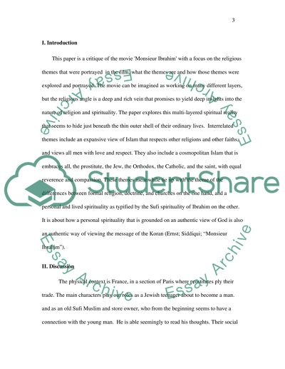 Essay Paper Help Film Critique Essay Watch The Movie Monsieur Ibrahim Link Provided And  Critique Its Buy An Essay Paper also In An Essay What Is A Thesis Statement Film Critique Essay Watch The Movie Monsieur Ibrahim Link Essay Argumentative Essay Topics For High School