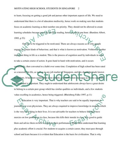 Example Of Thesis Statement In An Essay Essay On Motivation Volition And Instruction For Secondary School Students  In Singapore Research Essay Papers also What Is Thesis In An Essay Essay On Motivation Volition And Instruction For Secondary School   English Narrative Essay Topics