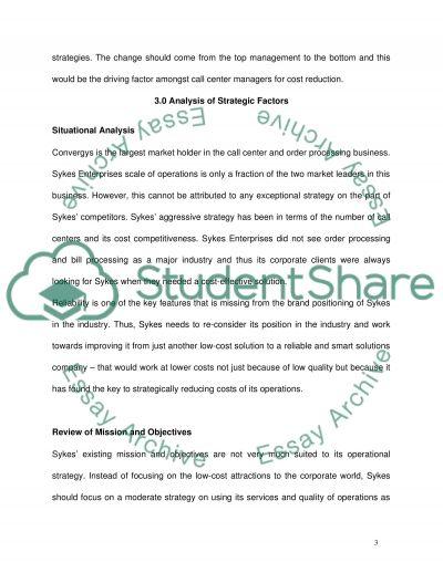 Sykes Enterprises Case Study essay example