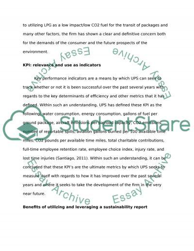 Case Analysis.Corporate Sustainability essay example