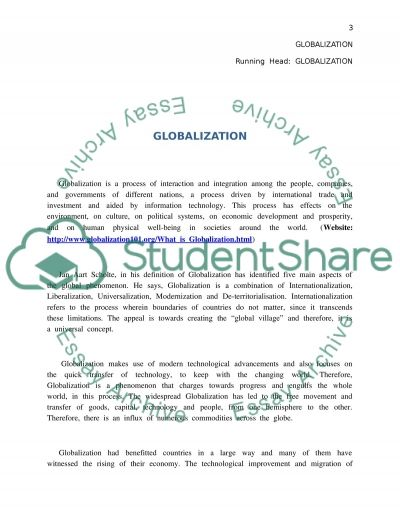 Thesis Globalization, the new economy, and the commodification of essay example