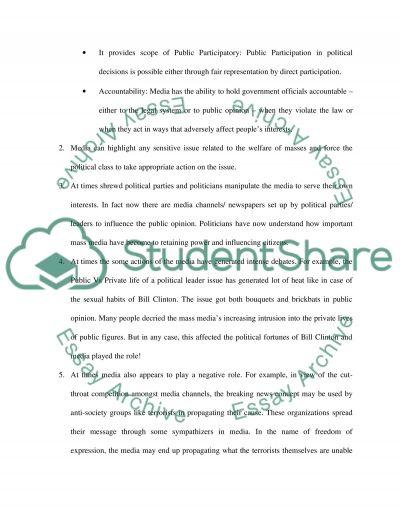 Mass Media paper essay example