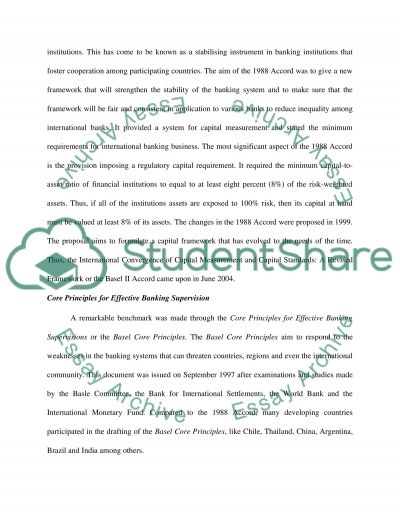Basel Core Principles on Developing Countries essay example