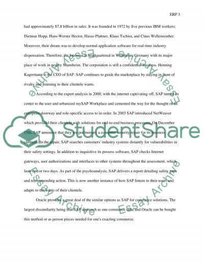 ERP essay example
