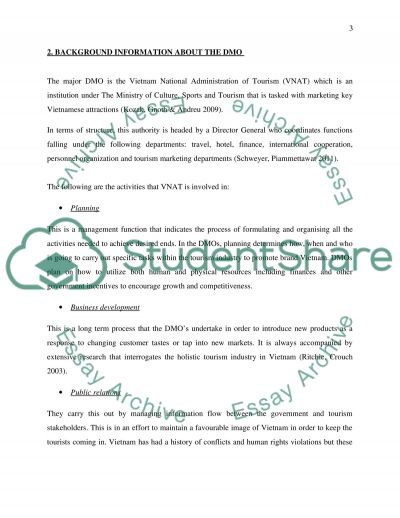 Destination Marketing Essay example