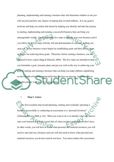 Five Steps to Making a Million in Nursing essay example