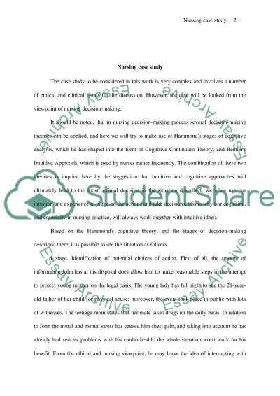 Nursing Decision-Making essay example