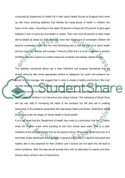 "Experiential Project ( ""Green Zon"") Dissertation example"