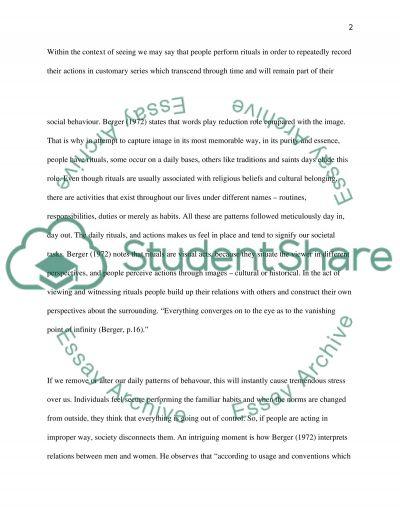 Rituals essay example
