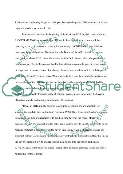 Trade Law essay example