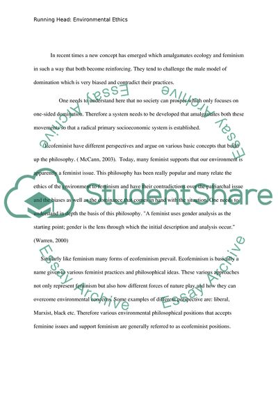 Environmental Ethics Essay Example | Topics and Well Written