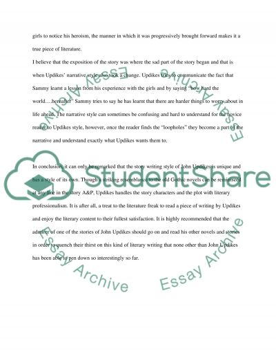 A&P by John Updike essay example
