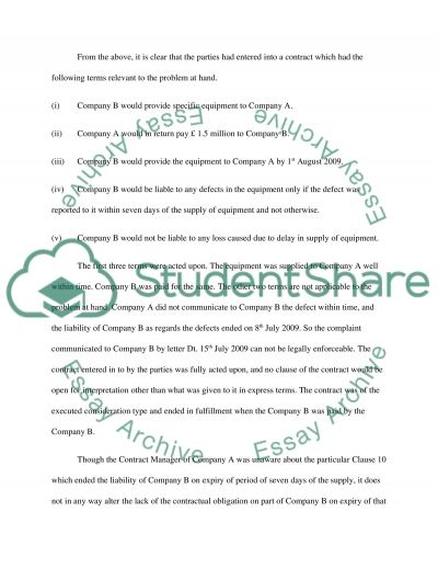 Industrial Law Assignment ( Contract Law ) essay example