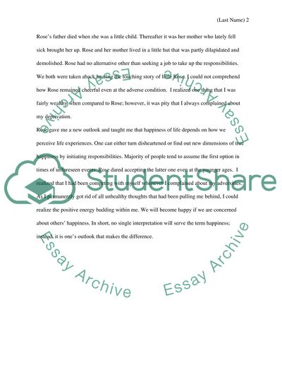 How to live happily and positively essay